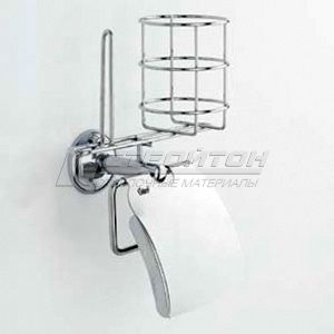 Держатель для туалетной бумаги и освежителя воздуха + дополнительный рулон 1078 (12)