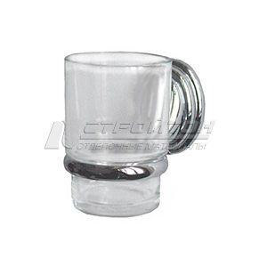 Стакан монтажный хром+стекло 3184 (40/5)
