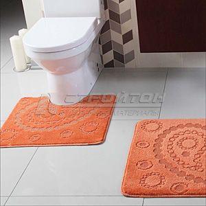 Коврики ворсовые для ванной 2 предмета; 0,6х1,0м.