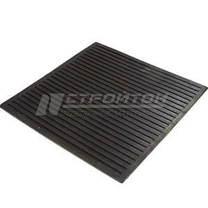 Коврик резиновый диэлектрический 50х50см, черный, SUNSTEP (1)