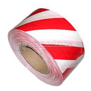 Лента сигнальная, красно-белая, неклейкая, 50ммх200м (12)