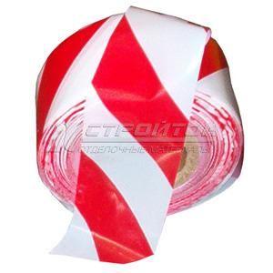 Лента ZOOM Барьерная 75ммх100м, красно-белая