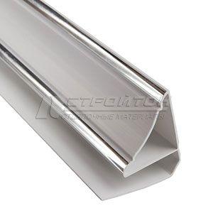 Плинтус-галтель  ПВХ 3,0  10мм серебро (30)