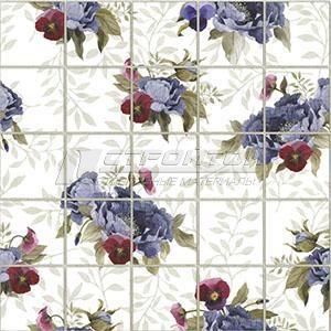 Панель ПВХ Мозаика Фиолетовые цветы  964*484мм (10)