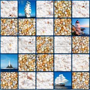 Панель ПВХ Мозаика Море 955*480мм (10)