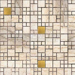 Панель ПВХ Мозаика Мрамор с золотом 964*484мм (10)