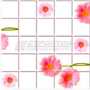 Панель ПВХ Плитка Розовые герберы 955*480мм (10)