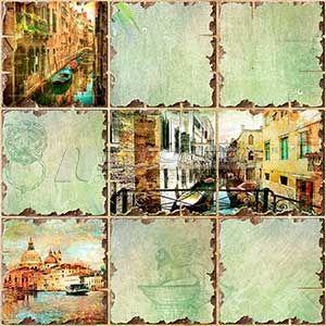 Панель ПВХ Граненый квадрат Венеция 960*480мм (10)