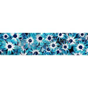 Панель декоративная АВС Пластик Голубые цветы 2400*600*1,5мм