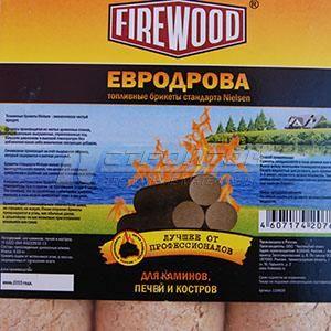 Топливные брикеты FIREWOOD стандарта Nielsen (Евродрова), вес 4,63кг. 110609 (1)