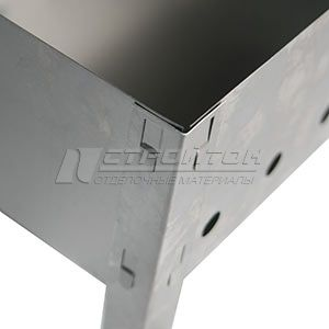 Мангал сборный 400х250мм, без шампуров, сталь 0,5мм, в термопленке, СЗУ 110700