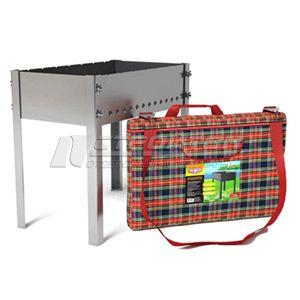 Мангал сборный на барашках 500х300мм, сталь 1,5мм, в сумке Премиум FIRE WOOD 110717