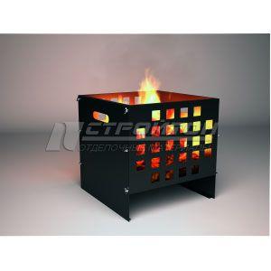 Очаг для костра CUBE FIREWOOD 400х400х400мм, сталь 0,7мм. 110756