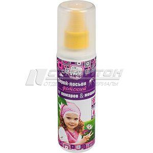 80522 HELP Спрей-лосьон детский от комаров и мошек, репеллентный 125 мл. /24