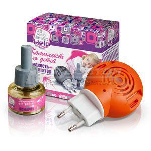 80523 HELP Комплект для ДЕТЕЙ: фумигатор + жидкость 30 ночей /24