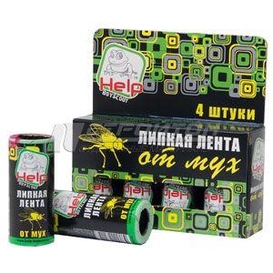 80241 HELP Липкая лента от мух, 4шт. в упаковке 96/24