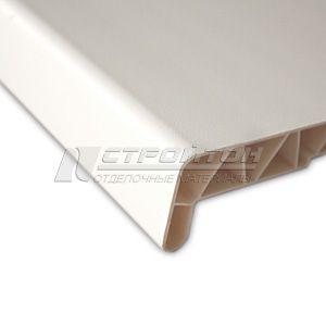 Подоконник ПВХ 500мм белый ВП L=0,49м – фото 1