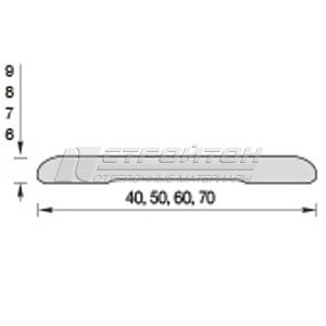 Наличник ПВХ плоский (40, 50, 60, 70*2200мм)