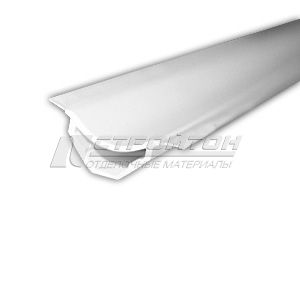 Галтель с мягкими краями белый 20х20х2500 мм. (25)