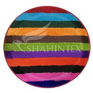 Коврики ворсовые для ванной, круглые, PP MIX LUX Shahintex D=0,66м.