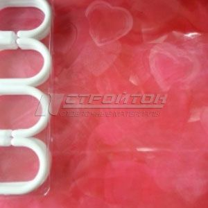 Шторы для ванной 3D с кольцами 1,8х1,8м. EVA