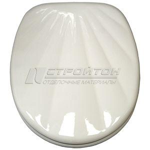 Крышка для унитаза MDF М-614 белая ракушка (5)***