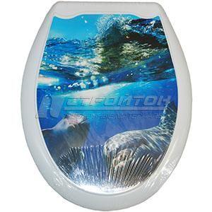 Сиденье для унитаза (жесткое) ОКЕАН Дельфины (10)