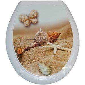 Сиденье для унитаза (жесткое) ОКЕАН Ракушка-бабочка (10)