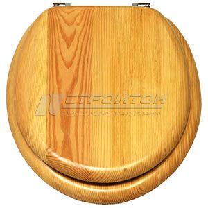 Крышка для унитаза универсальная W401 PINE натуральное дерево (5)