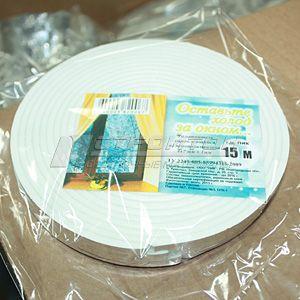 Уплотнитель пенополиэтиленовый, самоклеящийся, 7мм*4мм*15м., (120) – фото 1