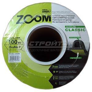 Уплотнитель  ZOOM  P-профиль, черный, 100м (6)