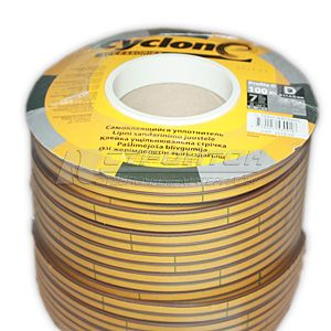 Уплотнитель  ZOOM  D-профиль, коричневый, 100м (6)