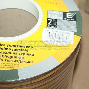 Уплотнитель  Е-профиль, коричневый, 150м (6)